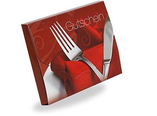 Gutscheinkarten Cute Case (10 Stück) - Gutscheine für Restaurants, Dinner, Gaststätten -...