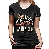 WYeter Jason Aldean Women' Short Sleeve T-Shirt Black L