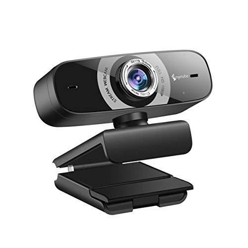 Webカメラ 広角 フルHD1080p 高画質 ウェブカメラ 200万画素 美顔機能 マイク内臓 USB接続 ZOOM Skype対応 会議用 ビデオ通話 リモート飲み会 オンライン授業 在宅勤務 テレワーク