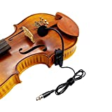 Violin Fiddle Condenser Microphone for akg Pocket Transmitter Wireless System with 3pin Mini XLR Connector