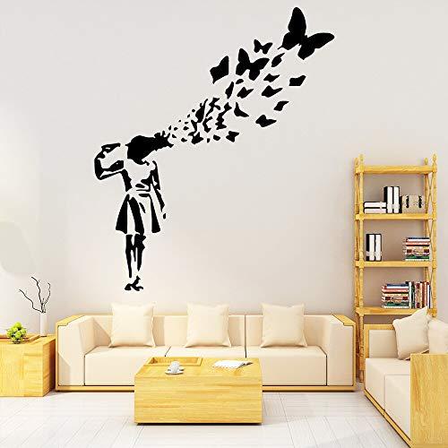 guijiumai Banksy Graffiti Tapete Dekoration Wandaufkleber Für Wohnkultur Wohnzimmer Schlafzimmer Vinyl Kunst D77X90CM