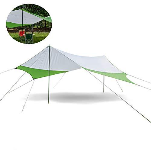 LKIHAH Camping Tent Tarps Waterdicht - Zeshoekige luifel Outdoor Vrije tijd Zonnescherm Strand Tent Regenluifel Camping Pergola Camping Tent