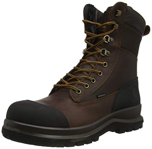 Carhartt Herren Detroit 8 Inch Rugged Flex Waterproof S3 Work Boot Construction Shoe, Dark Brown, 42 EU