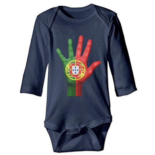 Klotr Mameluco Bebé, Portugal Pijama de Algodón Mameluco Niñas Niños Pelele Mono Manga Larga Trajes