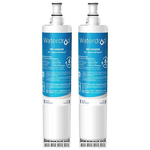 Waterdrop 2X 4396508 Kühlschrank Wasserfilter, Kompatibel mit Whirlpool 4396508 4396510 Maytag KitchenAid Hotpoint SBS002, SBS003, SBS004, SBS200, S20BRS, EDR5RXD1, 461950271171, 481281729632, USC009