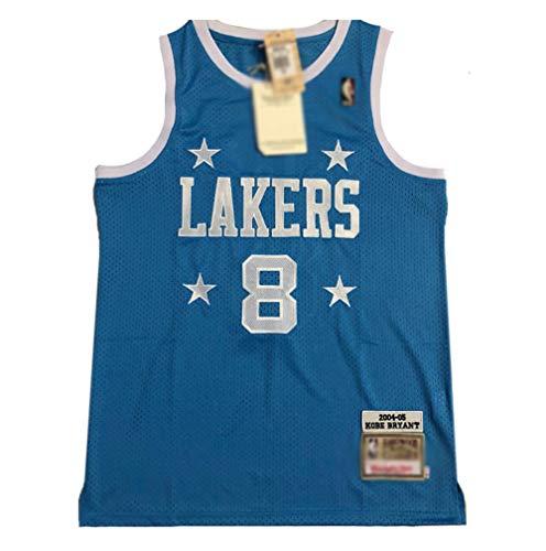 BCGG # 8 Kobe Bryant Fan Jersey Chaleco de Malla de Baloncesto, versión de Bordado Lakers 4 Star Precision Camiseta sin Mangas Tops Boys-A_M