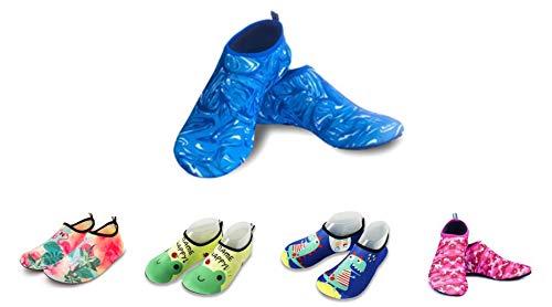 Mesit Calcetines de Piscina Infantil (Azul clarito, 26-27)