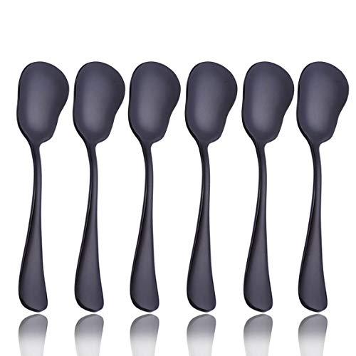 20Besteck Besteck Set Service für 4Edelstahl Besteck Geschirr u.a. Messer Gabel Löffel Spülmaschinenfest Black1 6 pcs Sugar Spoon Black1 6 pcs Sugar Spoon