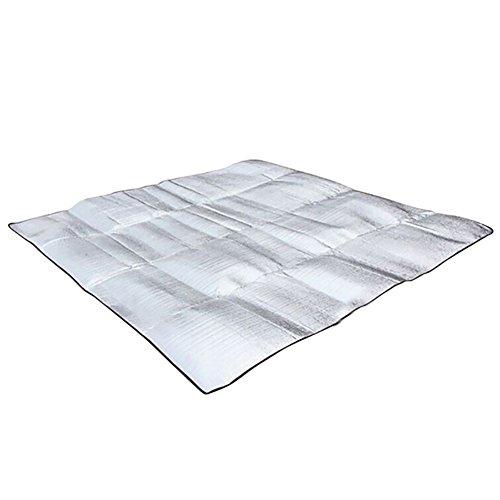 geshiglobal Tapis de Pique-Nique en Aluminium imperméable et résistant à l'humidité 200 x 200cm