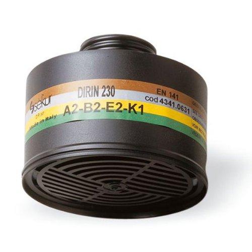 Atemschutz Mehrbereichsfilter DIRIN 230 A2 B2 E2 K1, DIN EN 14387