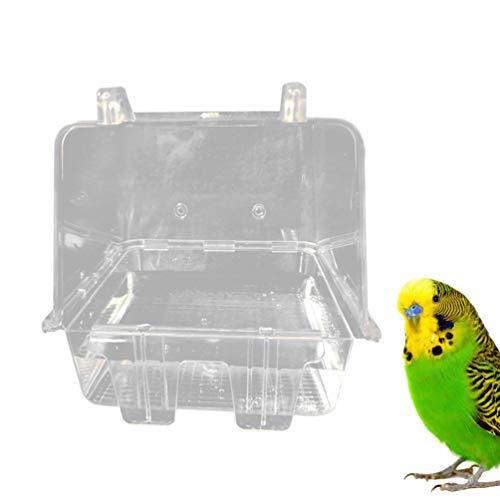 POPETPOP Bañera para Pájaros Transparente Práctica Jaula para Bañera Colgante Herramienta de Limpieza de Baño para Periquito Loro Pájaro