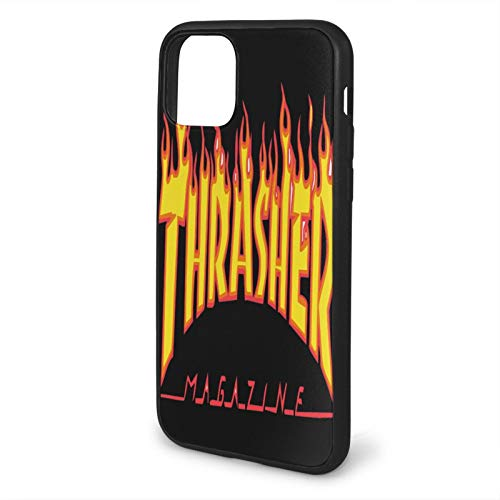 Derdeo Compatible with iPhone 11 Pro Case, Thras-Her Golden Yellow Flame Logo Soft Non-Slip TPU Protective iPhone Phone Case Cover