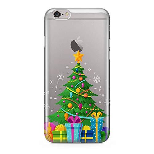 Finoo Handyhülle - Schutzhülle kompatibel mit iPhone 6/6S - Hardcase-Bumper - Transparent, Ultra-dünn & leicht - Weihnachtsbaum