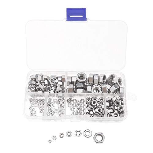 in acciaio inox e nylon per uso generico 40 dadi di bloccaggio in nylon A2-70 M6 imballati in una confezione resistente.