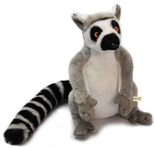 Zaloop Katta Lemur sitzend grau aus Plüsch 25