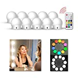 LEDGLE Hollywood Luces LED de Espejo, Tocador Maquillaje Led Kit Usb Cable, 10 Bombillas Dimmable 3...