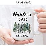 Taza de café DKISEE para el día del padre, regalo del día del padre de la hija, divertida taza de café con texto en inglés 'Best Dad Ever', cerámica, blanco, 15 oz
