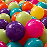 KiddyMoon 100 ∅ 7Cm Bolas Colores De Plástico para...
