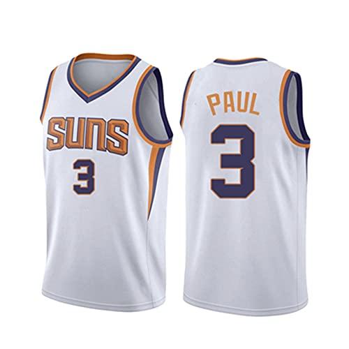 Wsaman #3 Camiseta de baloncesto para hombre, unisex de la NBA, camisetas sin mangas, camisetas de entrenamiento de baloncesto sin mangas, de secado rápido, camiseta deportiva retro, color blanco, 3XL