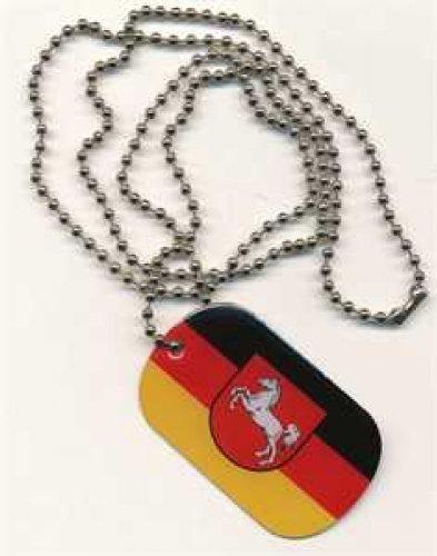 Erkennungsmarke DOG TAG Niedersachsen Fahne Flagge Kette