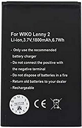 Akku passend für den Wiko Lenny 2 Akku 5030, 3,7Volt 1800mAh mit 6,7Wh
