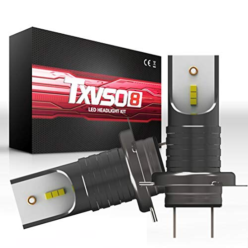 BiaBai Bombillas LED para faros delanteros H7 Extreme Super Bright COB Bombillas LED para faros delanteros Kit de conversión de faros LED Lámpara de bombillas (juego de 2)
