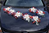 Lot de 7 pièces. -LA58 Fleurs orchidées Décoration de voiture à l'occasion d'un mariage  Nr.7