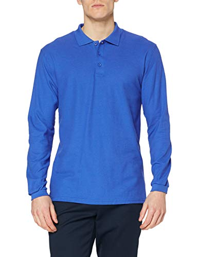 Fruit of the Loom Herren Premium Long Sleeve Poloshirt, königsblau, L