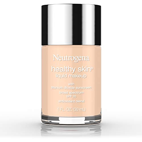 Neutrogena Healthy Skin Liquid Makeup Foundation, Broad Spectrum SPF 20 Sunscreen, Lightweight & Flawless Coverage Foundation with Antioxidant Vitamin E & Feverfew, 40 Nude, 1 fl. oz