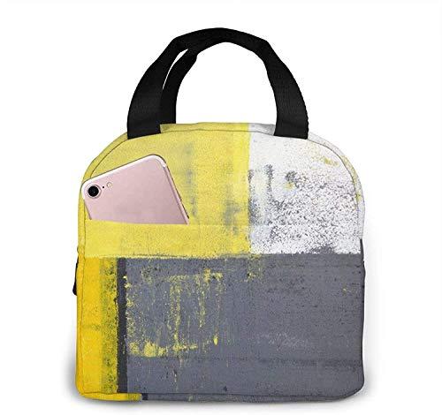 Bolsa de almuerzo de diseño abstracto moderno de arte callejero, bolsa de asas, caja de almuerzo, contenedor de almuerzo aislado para mujer y hombre