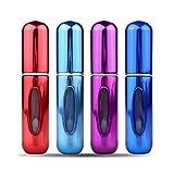 Portable Mini Refillable Perfume Atomizer Bottle,Atomizer Perfume Bottle,Refillable Perfume Spray, Scent Pump Case, Perfume Atomizer Refillable Travel 4 Pcs Pack of 5ml