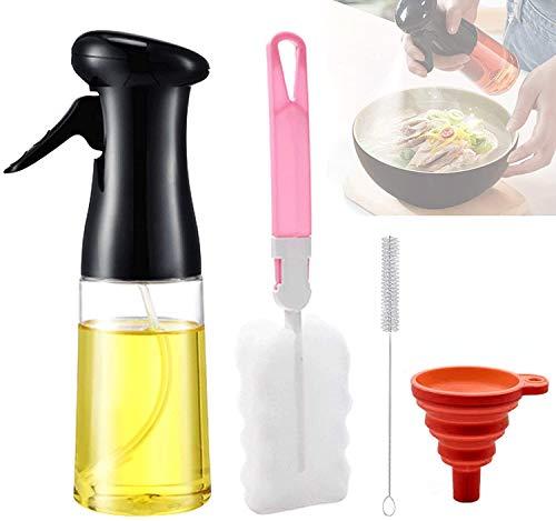 Oil Sprayer for Cooking, Olive Oil Sprayer Cooking Spray Bbq Butter Sprayer Olive Oil Mister Spray Bottle for Cooking, Oil Sprayer for Cooking Air Fryer Baking, Grilling, Olive Oil Spray (210ml)