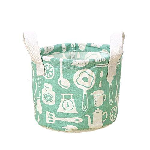 Milopon Aufbewahrungskorb Stoff Aufbewahrungsbox Flamingos Regallagerbehälter Organizer Wäschesammler Aufbewahrungskiste Kinderzimmer Wäschekörbe Korb Spielzeugkiste (Grün)