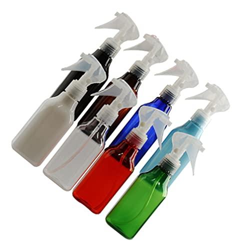 Scicalife 8 Unidades de Botellas de Spray de Niebla de Plástico Transparente Envases Recargables de Maquillaje Vacíos Botella Rociadora para Líquidos Perfumes Cosméticos de Limpieza 200Ml