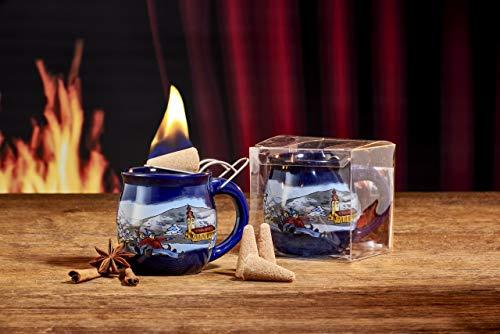 Feuerzangentasse 1er-Set, Blau/Winter - für Feuerzangenbowle