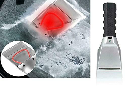 DDDDMMMY Beheizte elektrische Windschutzscheibe Eiskratzer Auto beheizte Schnee Eiskratzer mit Taschenlampe Schneeschmelze Entfernung Sparen Sie Zeit für Auto Auto SUV LKW Windschutzscheiben Fenster