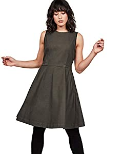 G-STAR RAW Damen Core Fit and Flare Dress Kleid, Schwarz (Asfalt 995), X-Small