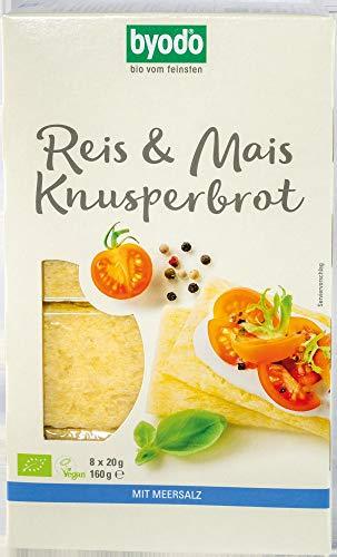 Byodo Bio Reis & Mais Knusperbrot mit Meersalz (6 x 160 gr)