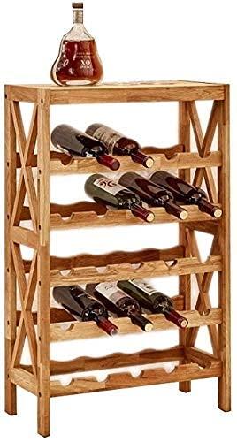 n.g. Wohnzimmerzubehör Weinschränke Weinständer   Massivholz-Bar-Weinregal   Spirituosenschrank-Bodengitterregal   5-Schicht 8-Schicht-Regalaufbewahrung (Größe: 5 Schichten)