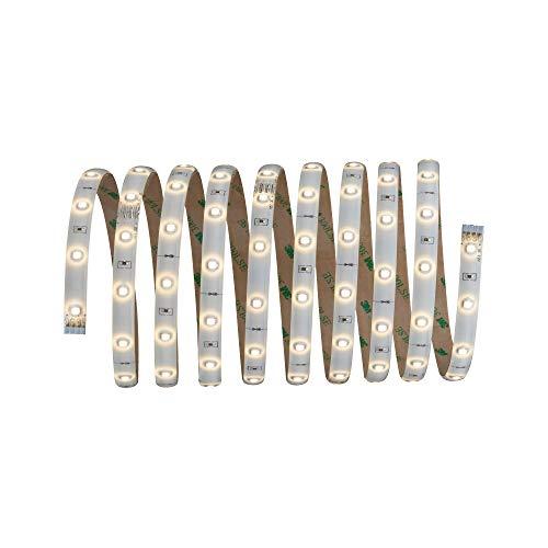 Paulmann 70592 YourLED Stripe 3 m Warmweiß LED Strip Weiß klar beschichtet Lichtband 7,5W Lichtstreifen 800 Lumen 120 LED 12V DC LED Band