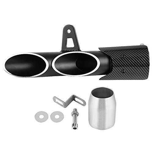 Silenciadores y silenciadores de escape universales para motocicleta compatibles con Grom ATV Dirt Bike Street Bike Scooter Tubo de escape universal negro brillante 51 mm