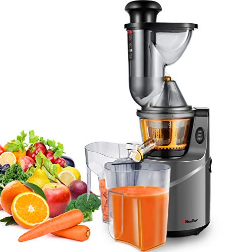 Mueller Austria Ultra Juicer Machine Extractor with Slow Cold Press Masticating Squeezer Mechanism Technology, 3 inch Chute accepts Whole Fruits and Vegetables, Easy Clean, Large