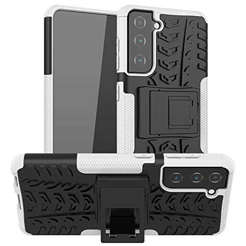 Zhang Caja del teléfono Celular para Samsung Galaxy S21 5G Neumático Textura TPU + PC Funda Protectora con Titular Estuche Protector
