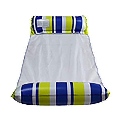 Hamaca de agua inflable de 2 piezas - Sillón reclinable inflable para piscina - Cama flotante - Silla flotante - Sofá de agua, para piscina, playa, mar, color único, inflables ( Color : Light green )