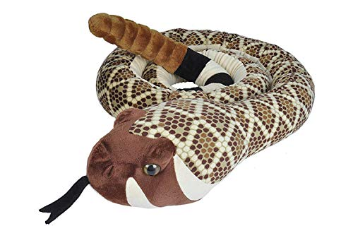 Wild Republic- Jumbo Serpiente crótalo Diamante Occidental o Cascabel diamantina del Oeste (Crotalus atrox), Peluche, 280 cm, (1)