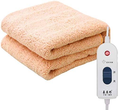 dfff Wärmer Comfort Heizdecke, Extra große Plüschdecke, Anti-Strahlenschutz-Heizdecke gesund-gelb_180X200