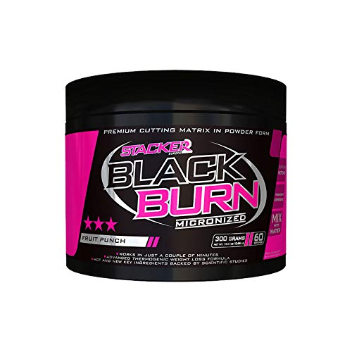 Stacker2 Black Burn Fatburner Fettverbrennung Diät Fitness Bodybuilding (300g Lemon Lime)