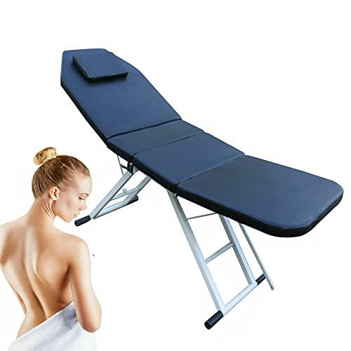 Camilla de masaje plegable, cama de masaje portátil, mesa de masaje ligera para spa, cómoda cama de cosméticos, pies de aluminio