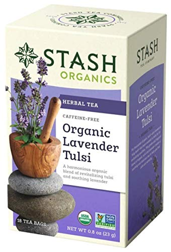Stash Premium Organic Lavender/Tulsi Herbal Tea, 18 Tea Bags