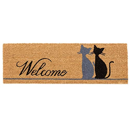 Dream Hogar Felpudo Fibra Coco Natural Welcome 75x25cm